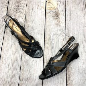 Naturalizer Strappy Black Leather Perth Sandals